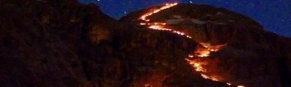Fiaccolata sul Monte Civetta